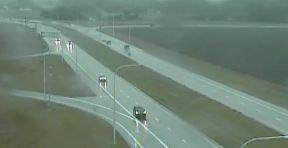 Rain falls along Route 1 near Milford. (Photo: Delaware Free News)