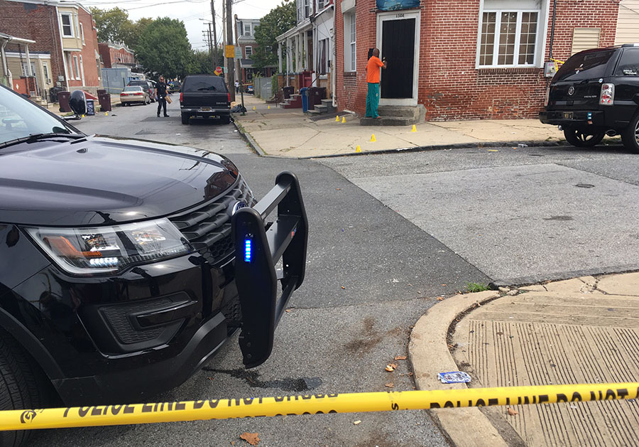 Shooting scene at Third and Rodney streets in Wilmington (Photo: Delaware Free News)