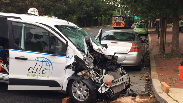 Crash scene at Eighth and Adams streets in Wilmington (Photo: Delaware Free News)