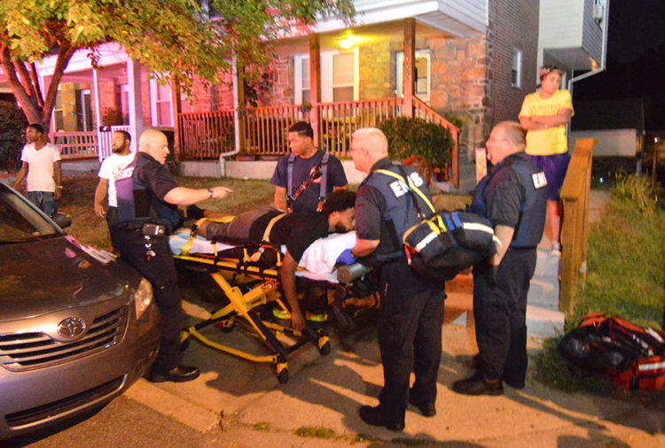Wounded man is taken to hospital. (Photo: Delaware Free News)