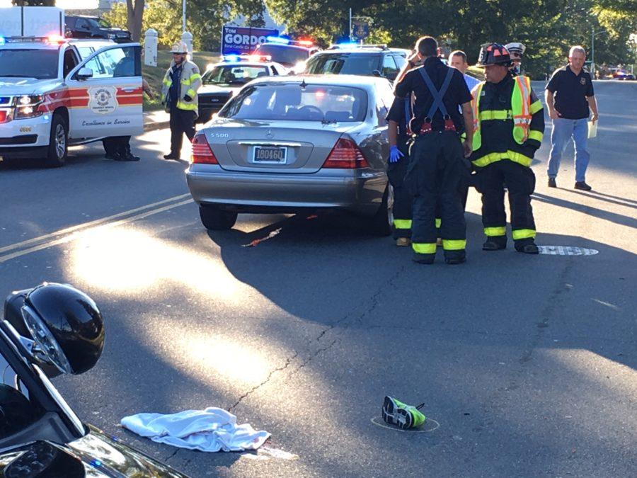 Scene of fatal pedestrian crash in Wilmington (Photo: Delaware Free News)