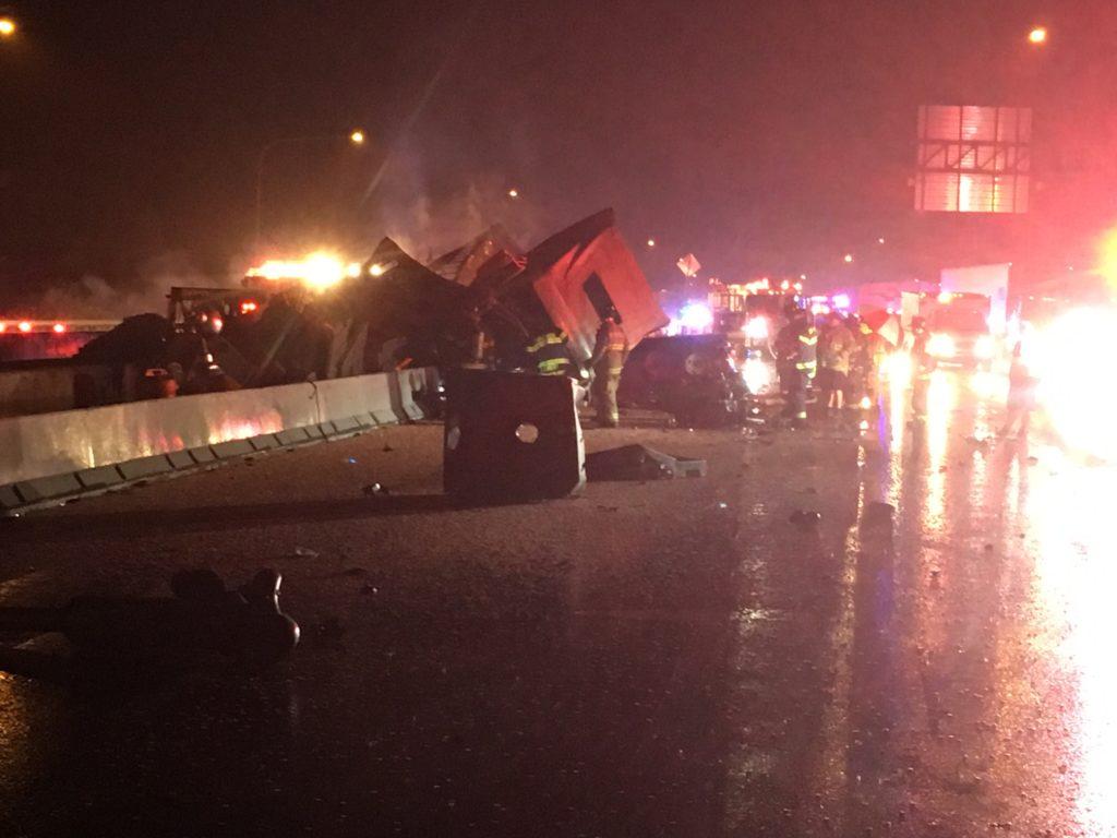 Crash scene on Interstate 95 (Photo: Delaware Free News)