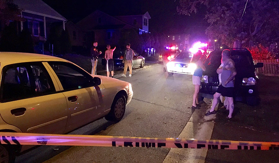 New Castle County police investigate drive-by shooting on South Ford Avenue in Colonial Heights. (Photo: Delaware Free News)