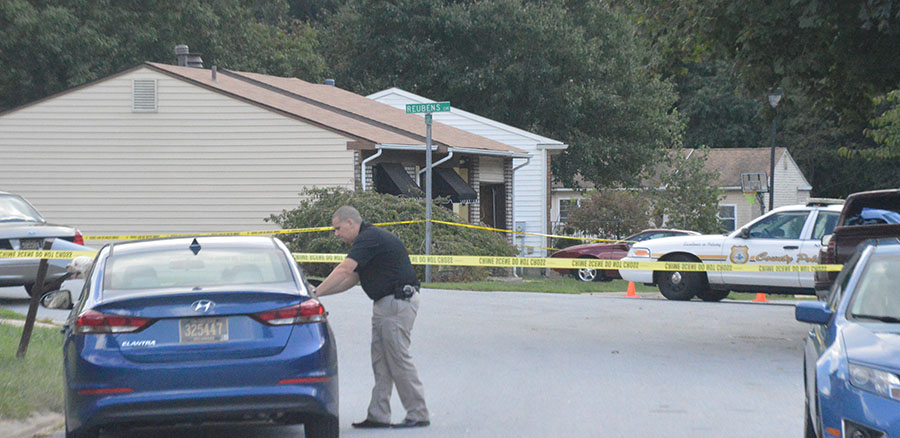 Police investigate home invasion in Taylortowne. (Photo: Delaware Free News)
