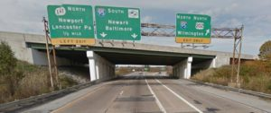 Westbound Interstate 295 at Interstate 495 overpass (Photo: Google maps)