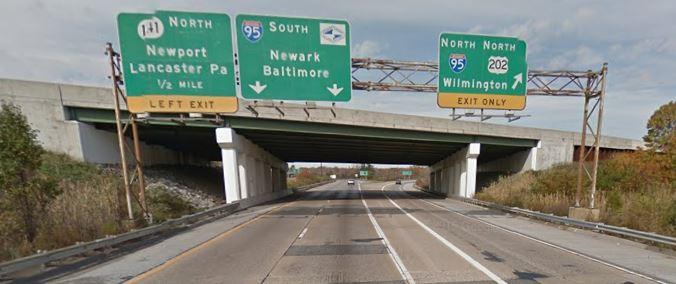 Westbound Interstate 295 at Interstate 495 overpass (Photo: Google maps)
