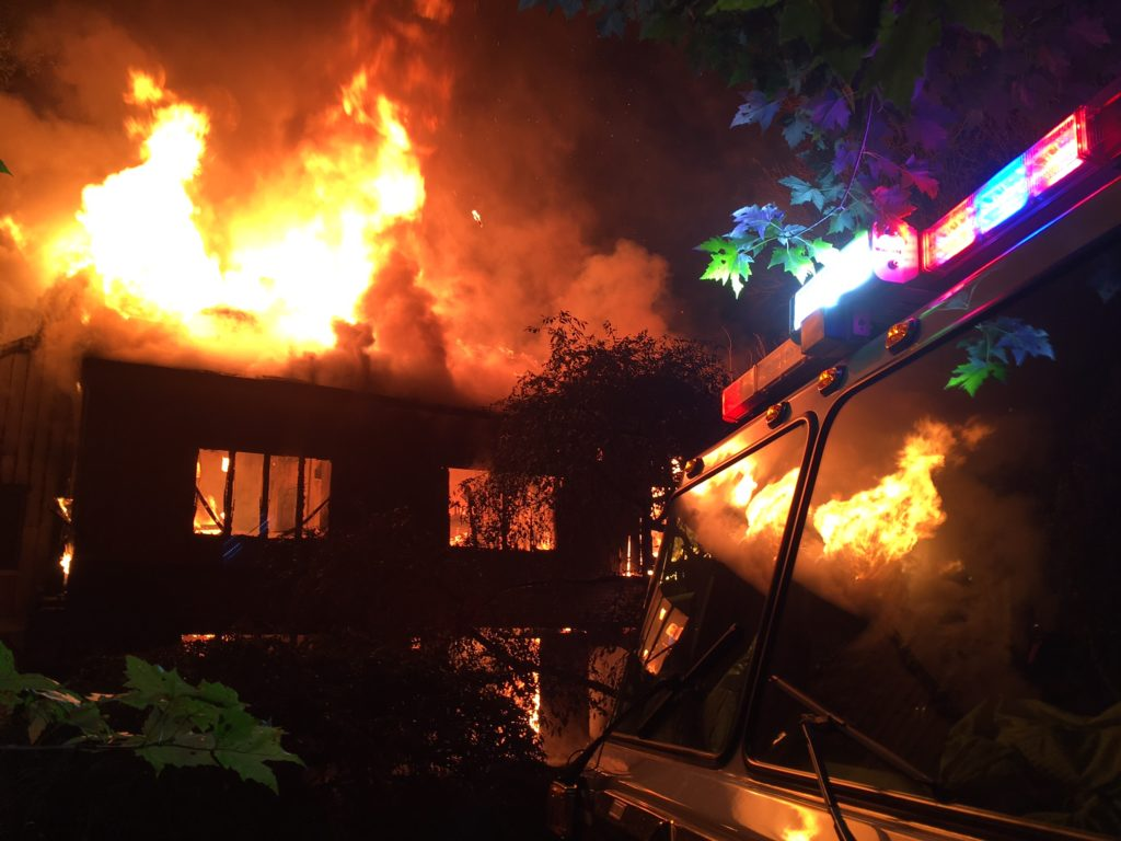 Fire destroyed home in the 900 block of Crossan Road in Hockessin. (Photo: Delaware Free News)