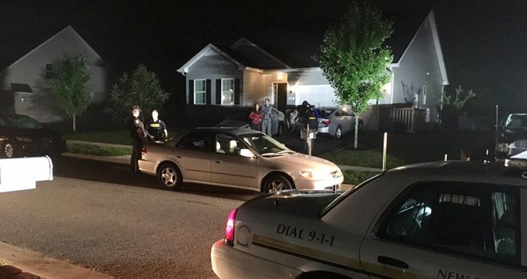 Police investigate shooting in 100 block of Jillians Way. (Photo: Delaware Free News)