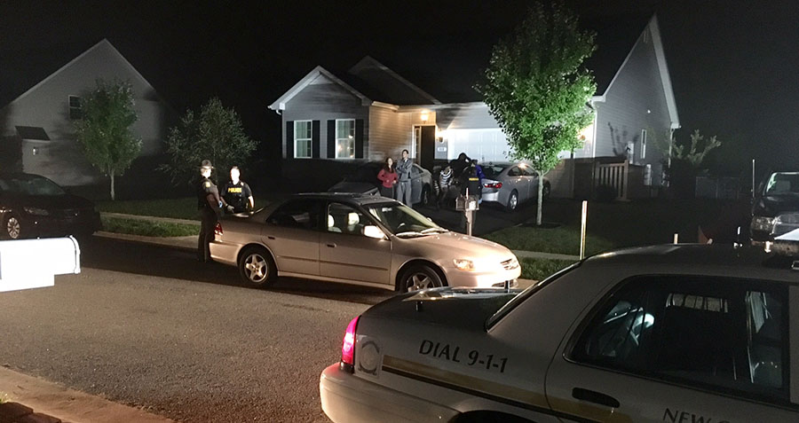Police investigate shooting in 100 block of Jillians Way. (Photo: Delaware Free News)