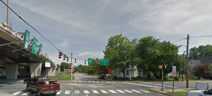 East Justis Street (Route 4) and North Marshall Street in Newport (Photo: Google maps)