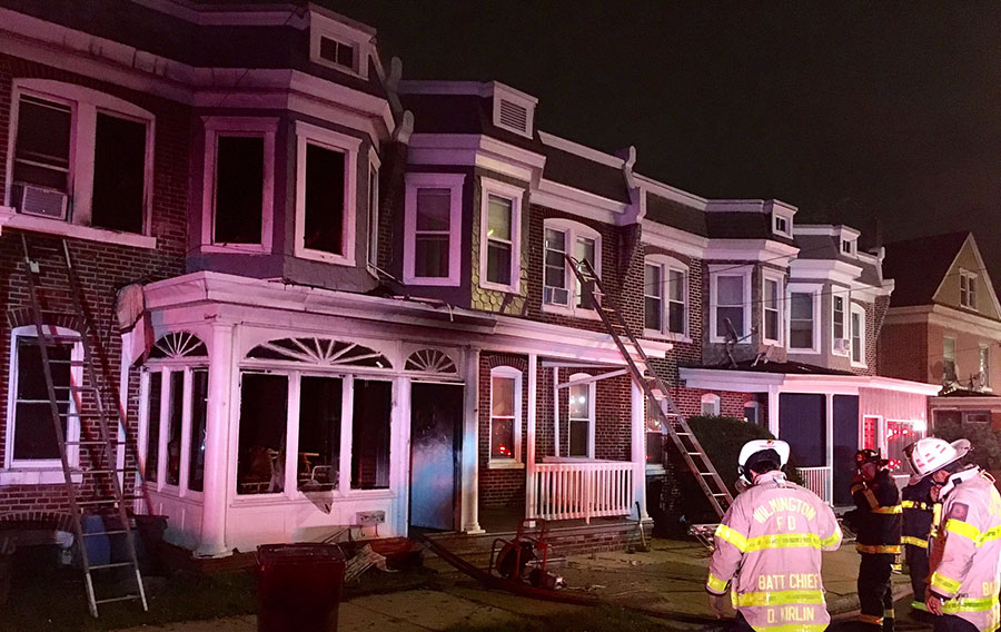 Woman jumped from burning home at 125 W. 30th St. in Wilmington. (Photo: Delaware Free News)
