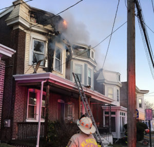Flames damaged second floor and attic at 307 W. 29th St. in Wilmington. (Photo: Delaware Free News)