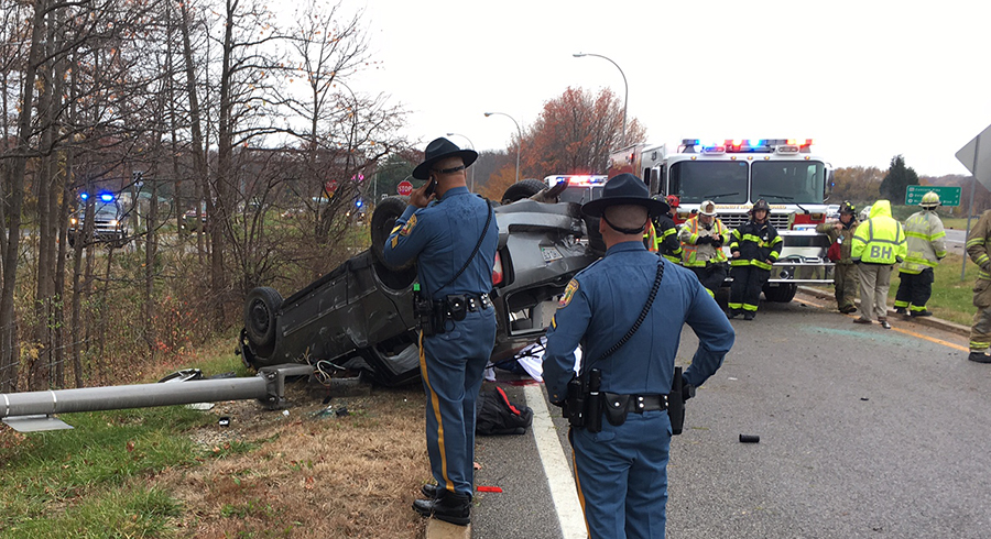 Scene of fatal crash on Interstate 95 at Marsh Road (Photo: Delaware Free News)
