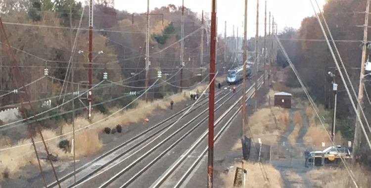 Delaware State Police investigate fatality on Amtrak tracks north of Harmony Road. (Photo: Delaware Free News)