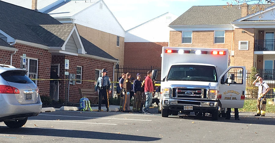 A 17-year-old boy was wounded by gunfire at the Stoneybrook Apartments. (Photo: Delaware Free News)
