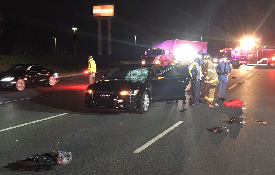 Woman was killed while walking across Concord Pike (U.S. 202) north of Woodawn Road, near Kohls store. (Photo: Delaware Free News)
