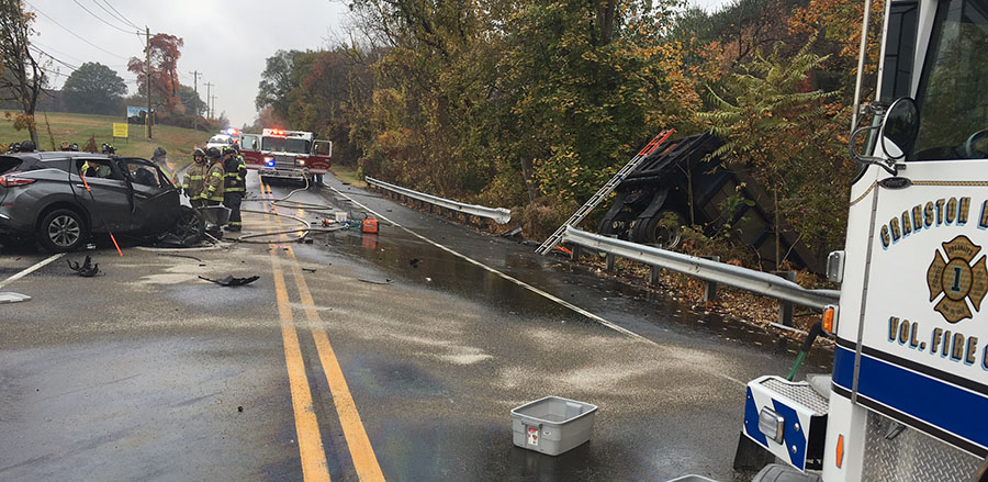 Scene of fatal crash on Lancaster Pike in Hockessin (Photo: Delaware Free News)