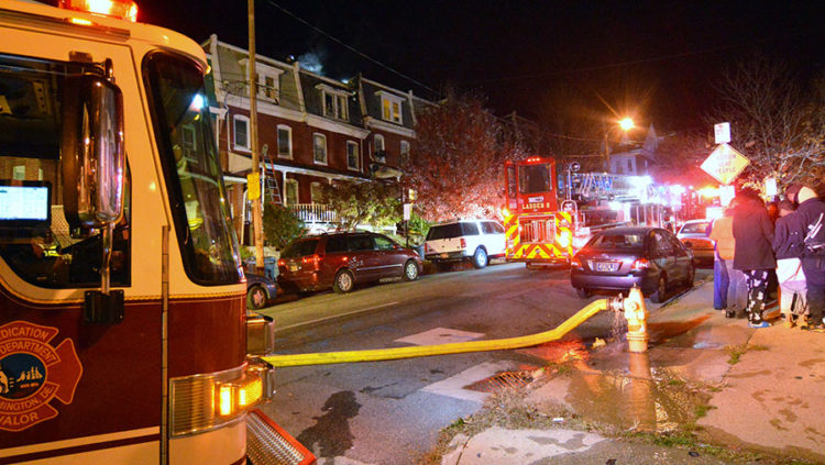Fire damaged home at 607 N. Franklin St. in Wilmington. (Photo: Delaware Free News)