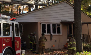Fire heavily damaged home on Athens Road in Green Acres development. (Photo: Delaware Free News)