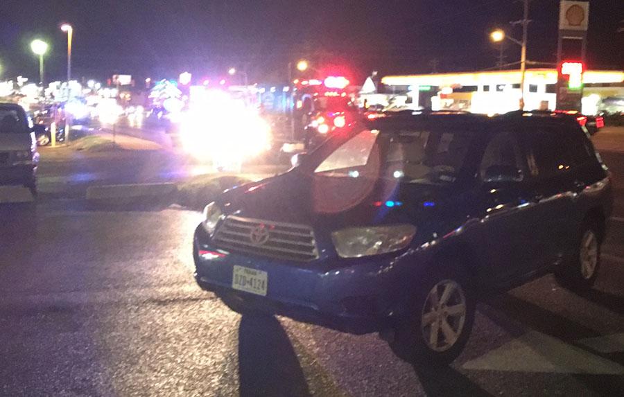 Scene of fatal pedestrian collision on Kirkwood Highway east of Duncan Road. (Photo: Delaware Free News)