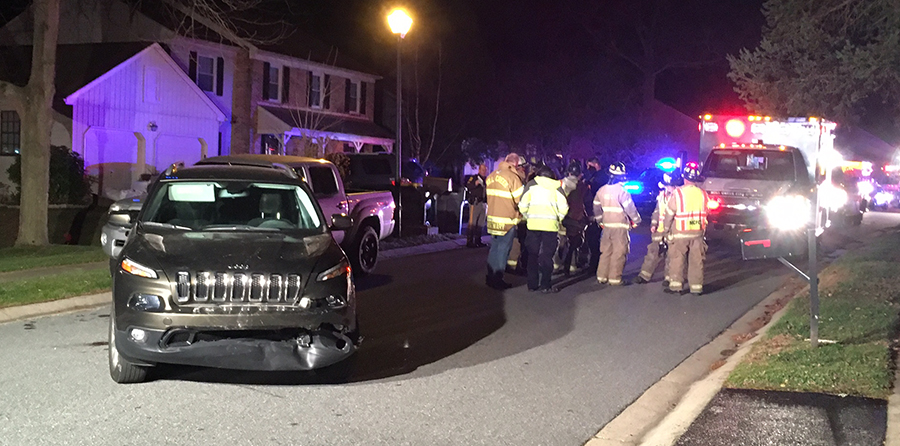 Woman was struck by a Jeep SUV that drifted down a driveway in Mendenhall Village neighborhood. (Photo: Delaware Free News)