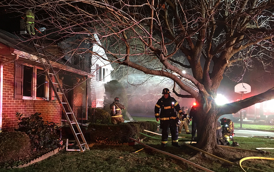 Fire heavily damaged spit-level home in 400 block of Mary Ann Drive in Middleboro Manor. (Photo: Delaware Free News)