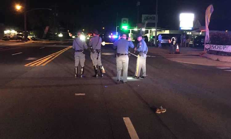 Pedestrian was struck by a vehicle on Philadelphia Pike just north of Washington Street Extension. (Photo: Delaware Free News)