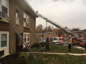 Fire scene at Silver Spring Apartments (Photo: Delaware Free News)