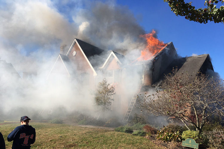 Fire engulfed home on North Hampshire Court in Stonewald community in Greenville. (Photo: Delaware Free News)