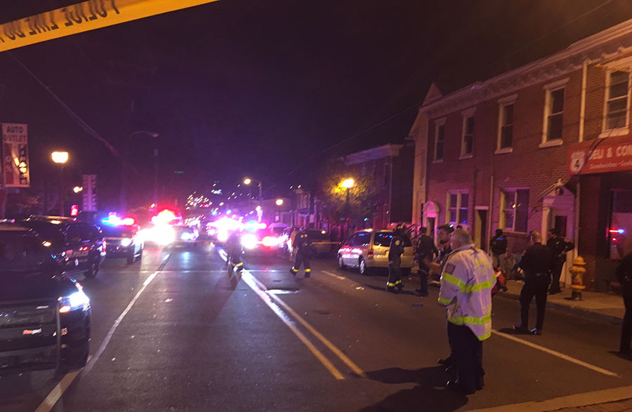 Wilmington police investigate shooting in 900 block of Maryland Ave. (Photo: Delaware Free News)