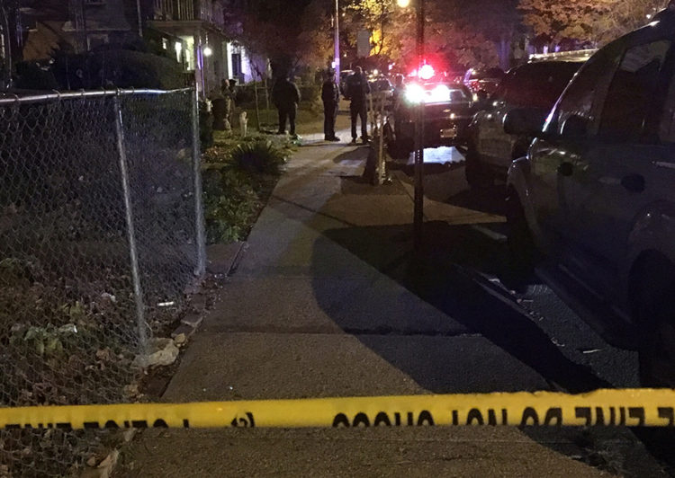 Wilmington police investigate shooting at 22nd and Jefferson streets. (Photo: Delaware Free News)