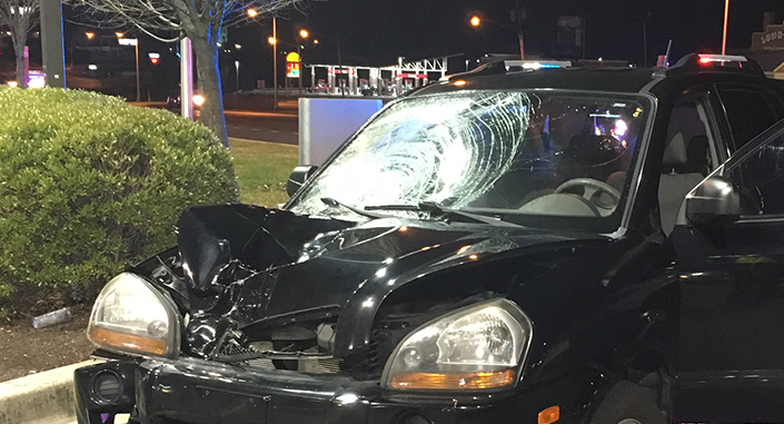 Pedestrian was struck by vehicle on U.S. 13 at Quigley Boulevard near New Castle. (Photo: Delaware Free News)