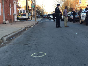 Wilmington police investigate shooting in the 2200 block of N. Locust St. (Photo: Delaware Free News)