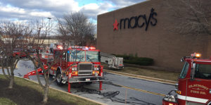Several fire companies responded to blaze at Macy's Department Store in Concord Mall. (Photo: Delaware Free News)