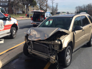 Crash involving three vehicles happened on Capitol Trail (Route 2) east of Newark. (Photo: Delaware Free News)