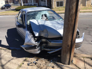 Man was seriously injured in crash at 30th and Pine streets in Wilmington. (Photo: Delaware Free News)