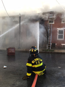 Fire began in vacant home at 44 E. 22nd St. in Wilmington and spread to adjacent dwellings. (Photo: Delaware Free News)