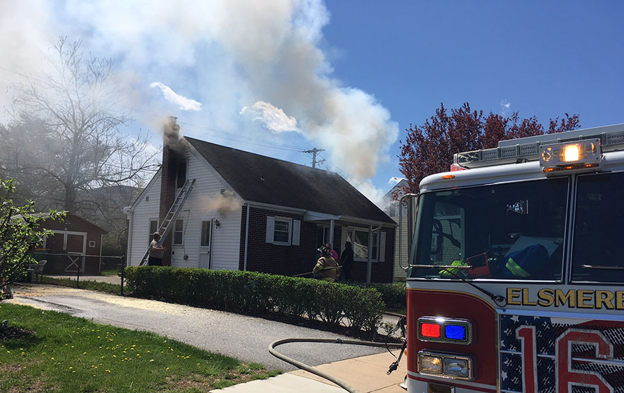 Fire broke out at 18 Rigdon Road in Elsmere. (Photo: Delaware Free News)