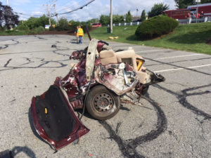 Two vehicles collided on Chapman Road at University Plaza shopping center. (Photo: Delaware Free News)