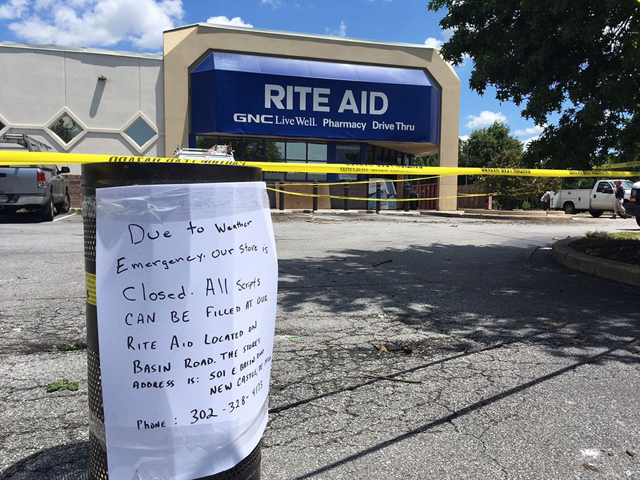 Storm damage near New Castle (Photo: Delaware Free News)
