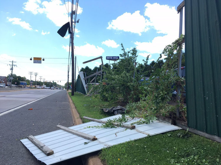 Storm damage near New Castle (Photo: Delaware Free News)