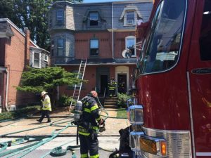Fire damaged two apartment buildings in the 1700 block of N. Broom St. in Wilmington. (Photo: Delaware Free News)
