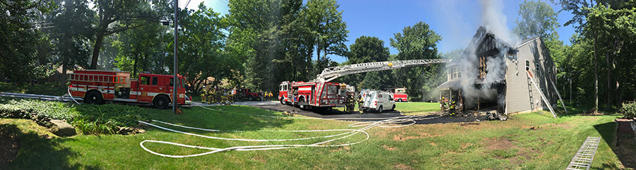 Fire heavily damaged home in the Indian Field community in Brandywine Hundred. (Photo: Delaware Free News)