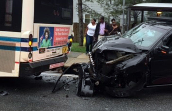 Crash involving a DART bus happened on Route 273 at Edinburgh Drive. (Photo: Delaware Free News)