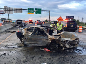 Fatal crash happened on southbound Interstate 95 near Frawley Stadium. (Photo: Delaware Free News)