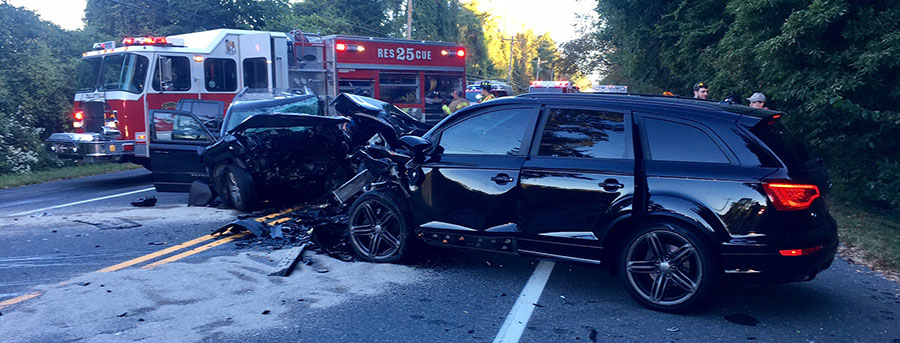 Head-on crash happened on Kennett Pike (Route 52) north of Hillside Road in Greenville. (Photo: Delaware Free News)