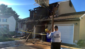 Fire heavily damaged home on Saratoga Court in Bear. (Photo: Delaware Free News)