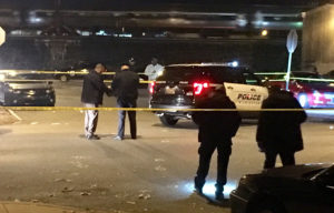 Wilmington police investigate shooting at 13th and North Claymont streets. (Photo: Delaware Free News)