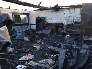 Fire destroyed concession stand used by Stanton-Newport Little League. (Photo: Delaware Free News)