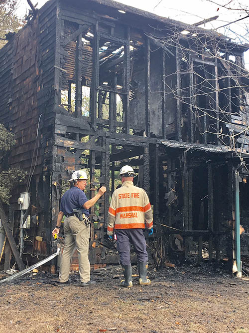 Fire hit home in the 300 block of Vandyke Greenspring Road, southwest of Townsend. (Photo: Delaware Free News)